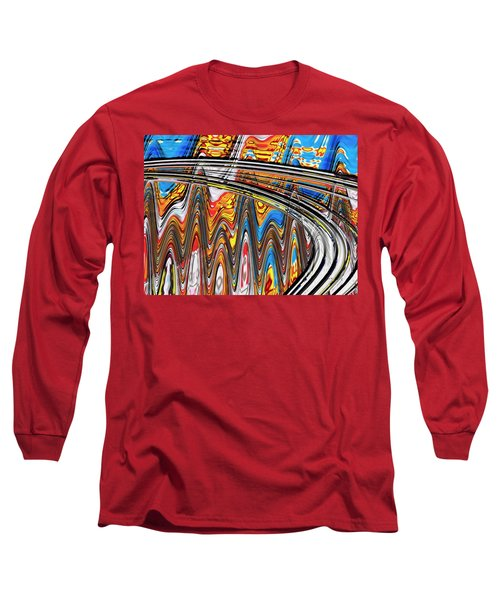 Long Sleeve T-Shirt featuring the digital art Highway To Nowhere Abstract by Gabriella Weninger - David