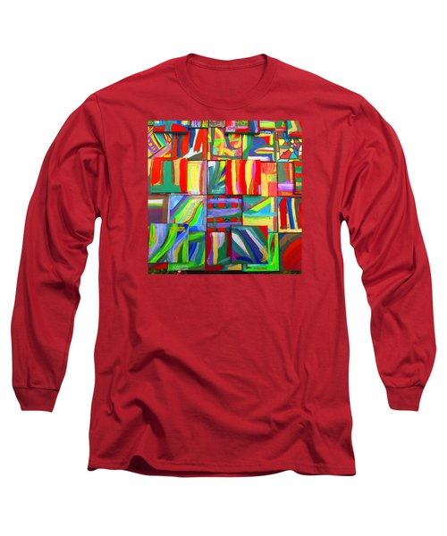 Long Sleeve T-Shirt featuring the painting Feast Of Minis 03 by Mudiama Kammoh