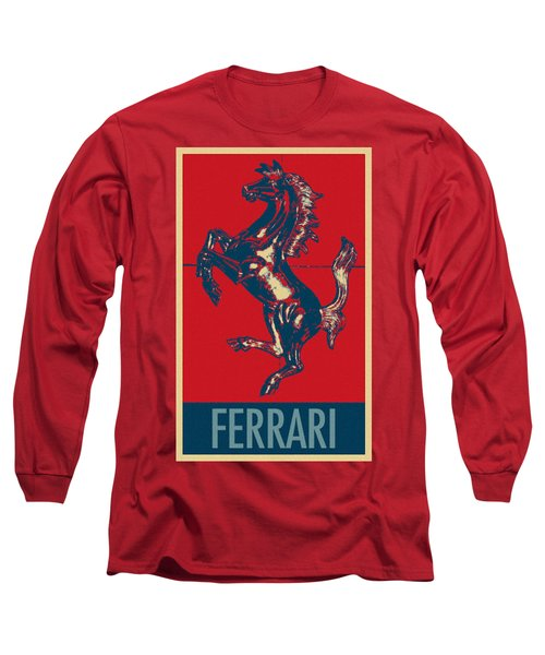 Ferrari Stallion In Hope Long Sleeve T-Shirt