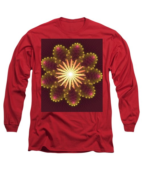 Fire Flower Mandala Long Sleeve T-Shirt