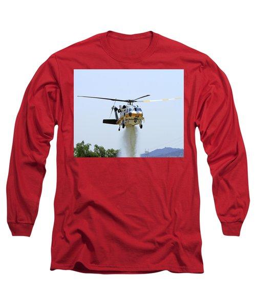 Fire Hawk Water Drop Long Sleeve T-Shirt by Shoal Hollingsworth