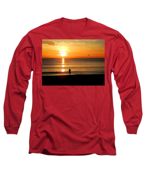 Fishing At Sunrise Long Sleeve T-Shirt