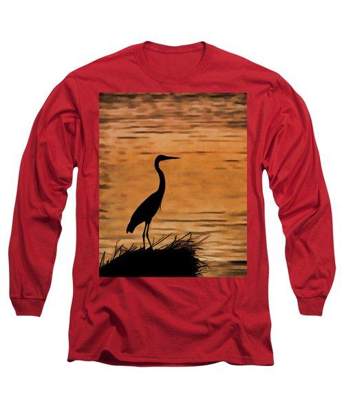Fishing At Sunset Long Sleeve T-Shirt