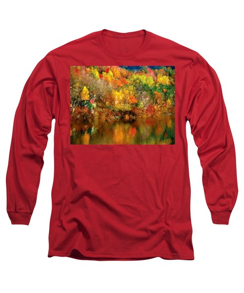 Flaming Autumn Abstract Long Sleeve T-Shirt
