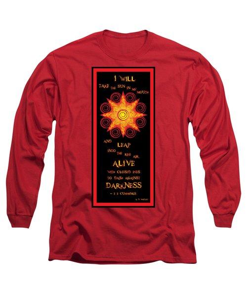 Flaming Celtic Sun Long Sleeve T-Shirt