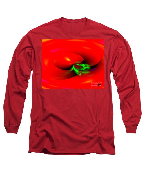 Long Sleeve T-Shirt featuring the digital art Floating Tomato by Hai Pham