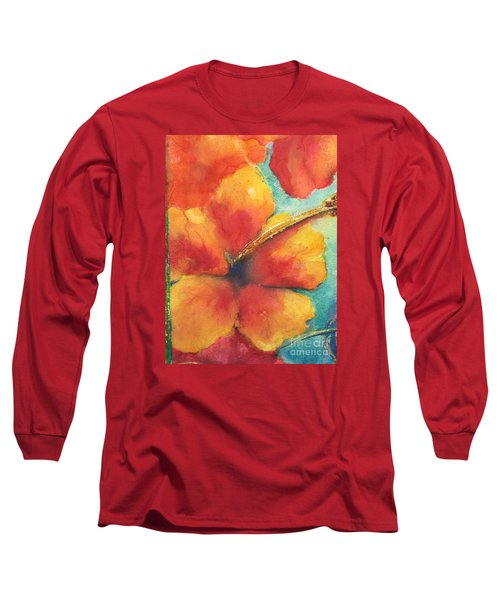 Long Sleeve T-Shirt featuring the painting Flowers In Bloom by Chrisann Ellis