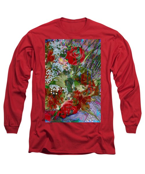 Long Sleeve T-Shirt featuring the digital art Flowers In Bloom by Liane Wright