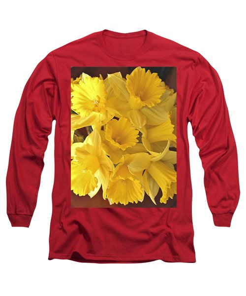 Long Sleeve T-Shirt featuring the photograph Flurry Of Daffodils by Diane Alexander