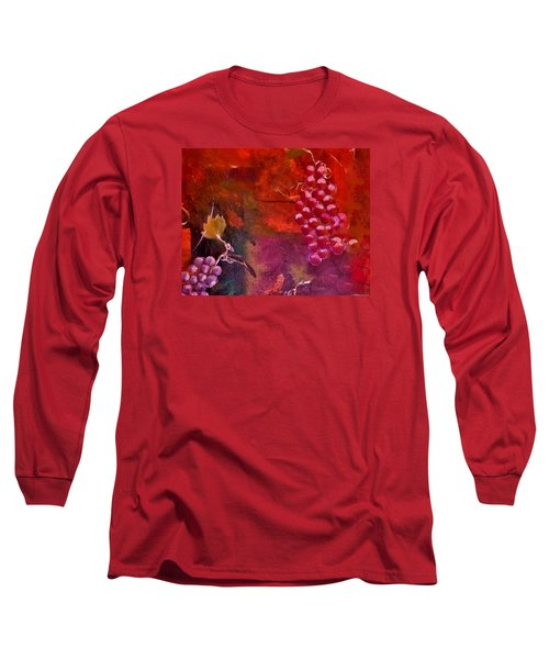 Flying Grapes Long Sleeve T-Shirt by Lisa Kaiser
