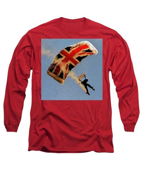 10399 Flying Union Jack Long Sleeve T-Shirt