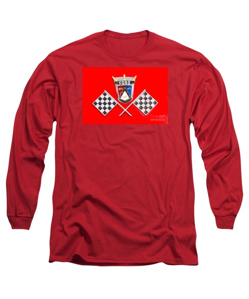 Ford Emblem Long Sleeve T-Shirt by Jerry Fornarotto
