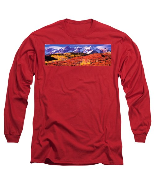 Forest In Autumn With Snow Covered Long Sleeve T-Shirt