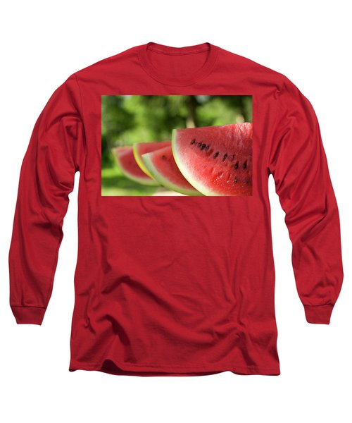 Four Slices Of Watermelon Long Sleeve T-Shirt