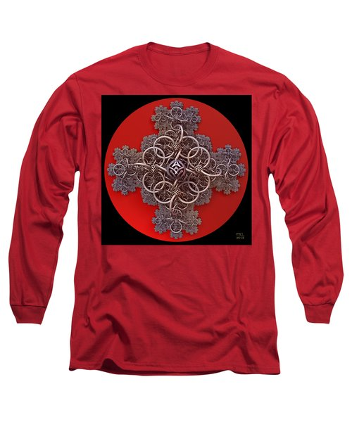 Fractal Cruciform Long Sleeve T-Shirt