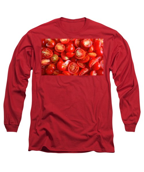 Fresh Red Tomatoes Long Sleeve T-Shirt by Amanda Stadther