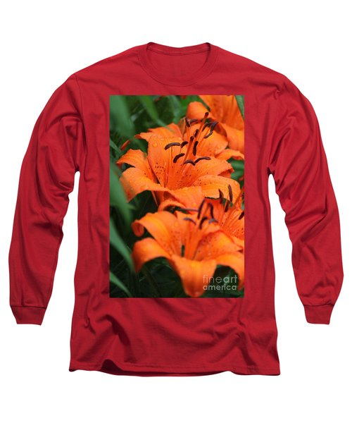 Freshly Showered Tiger Lilys Long Sleeve T-Shirt