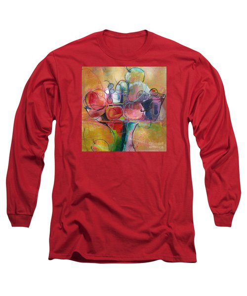 Long Sleeve T-Shirt featuring the painting Fruit Bowl No.1 by Michelle Abrams