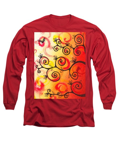 Fun Tree Of Life Impression I Long Sleeve T-Shirt