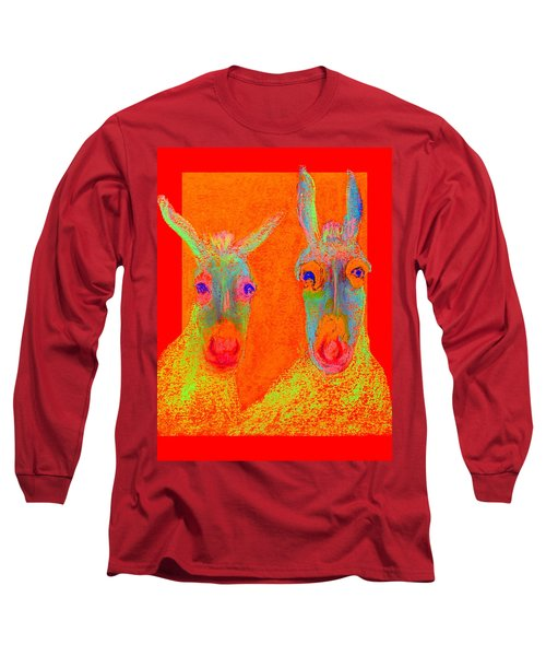 Funky Donkeys Art Prints Long Sleeve T-Shirt