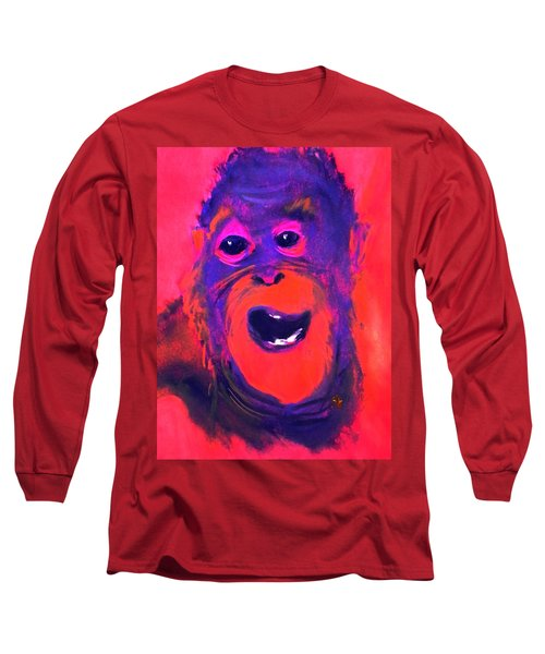 Funky Monkey Happy Chappy Long Sleeve T-Shirt