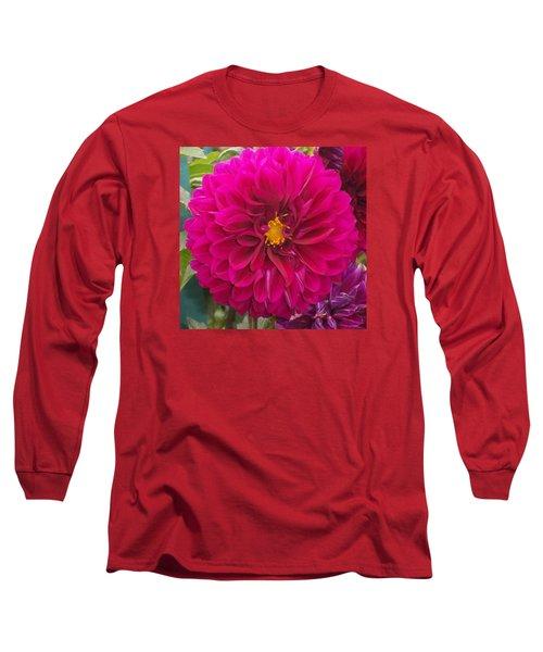 Fushia Long Sleeve T-Shirt by Catherine Gagne
