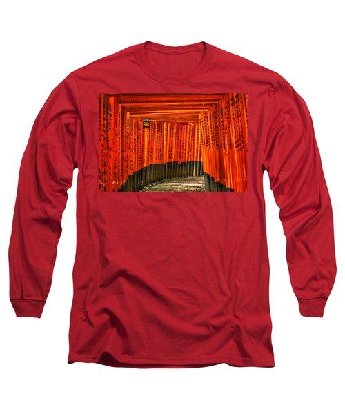 Fushimi Inari Long Sleeve T-Shirt by Jonah  Anderson