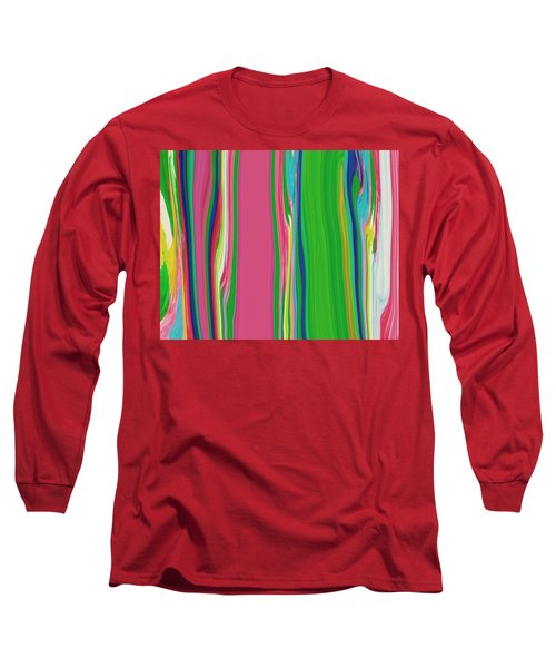 Long Sleeve T-Shirt featuring the painting Garden Stripes  C2014 by Paul Ashby