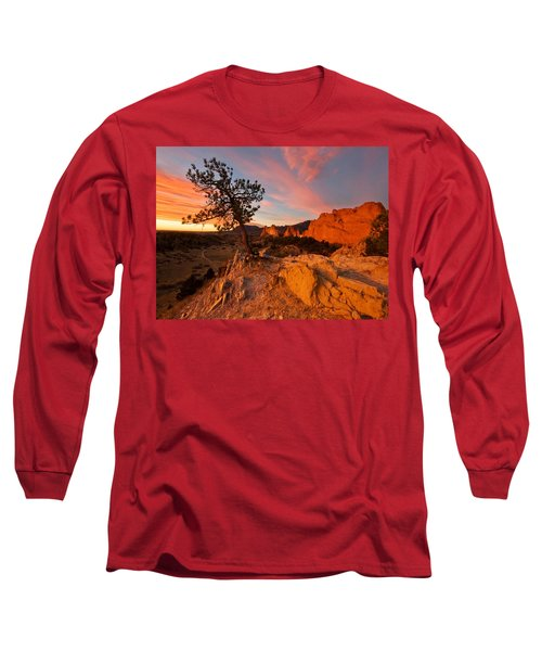 Garden Sunrise Long Sleeve T-Shirt by Ronda Kimbrow