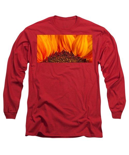 Long Sleeve T-Shirt featuring the photograph Gerbera On Fire by Adam Romanowicz