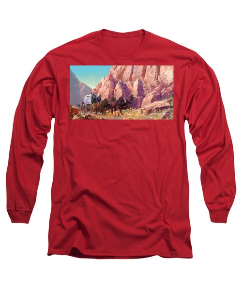 Long Sleeve T-Shirt featuring the painting Gett'en Through by Rob Corsetti