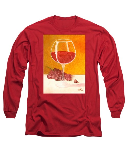 Glass Of Grapes Long Sleeve T-Shirt