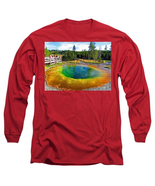 Glory Pool Yellowstone National Park Long Sleeve T-Shirt