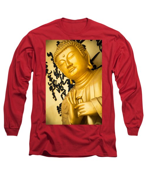Golden Buddha Statue Long Sleeve T-Shirt