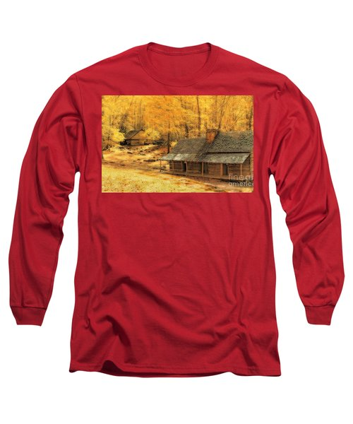 Long Sleeve T-Shirt featuring the photograph Golden Dream Home by Geraldine DeBoer