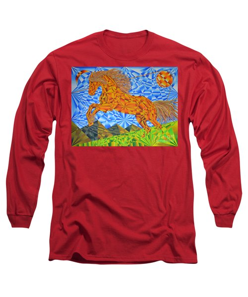 Golden Horse Over The Bitterroot's Long Sleeve T-Shirt