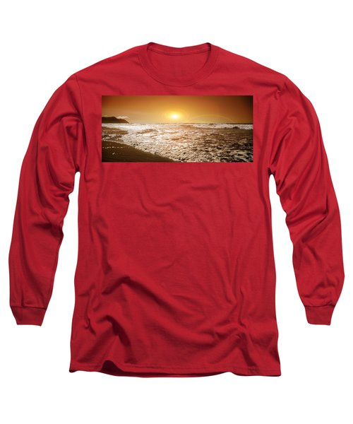 Water Long Sleeve T-Shirt featuring the photograph Golden Sunset by Aaron Berg
