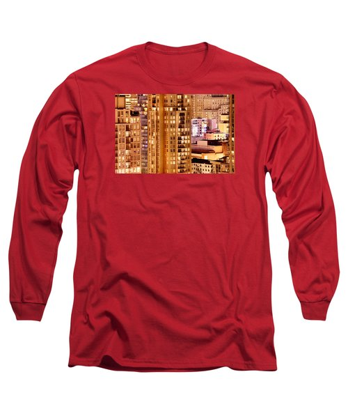 Long Sleeve T-Shirt featuring the photograph Golden Vancouver Cityscape Cdxii By Amyn Nasser by Amyn Nasser