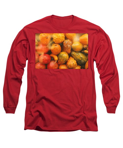 Long Sleeve T-Shirt featuring the photograph Gorgeous Gourds by Ira Shander