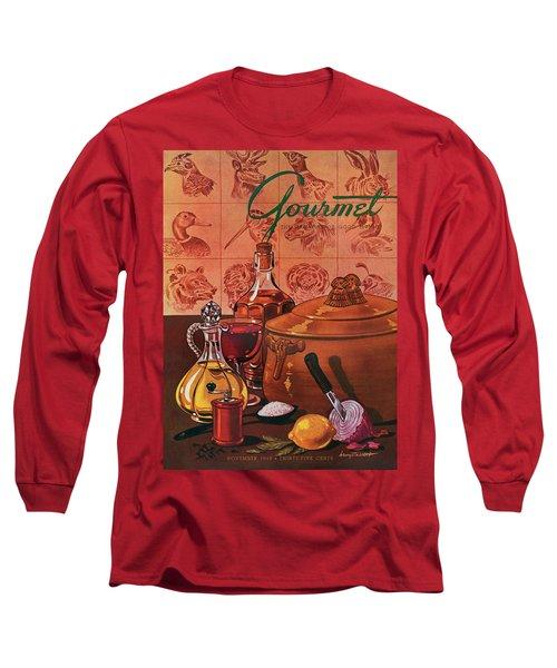 Gourmet Cover Featuring A Casserole Pot Long Sleeve T-Shirt