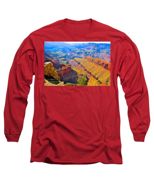 Grand Canyon In Vivid Color Long Sleeve T-Shirt