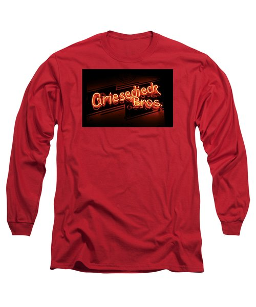 Long Sleeve T-Shirt featuring the photograph Griesedieck Brothers Beer Neon Sign by Jane Eleanor Nicholas