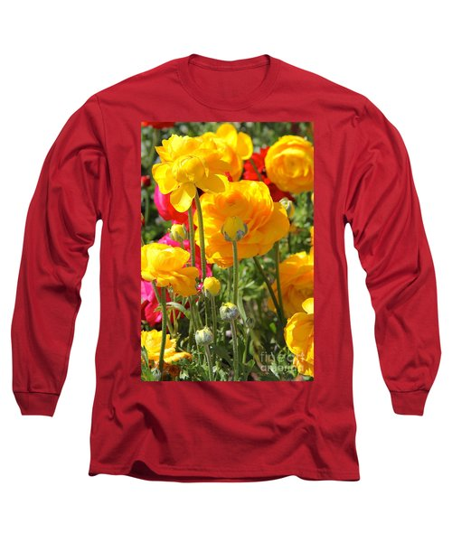 Growth Of A Ranunculus Long Sleeve T-Shirt
