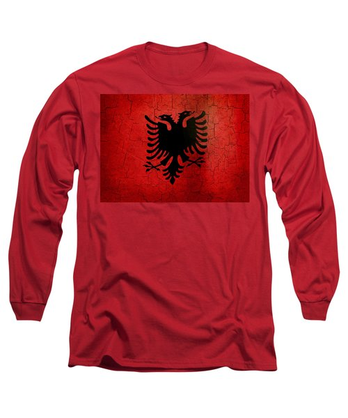 Grunge Albania Flag Long Sleeve T-Shirt