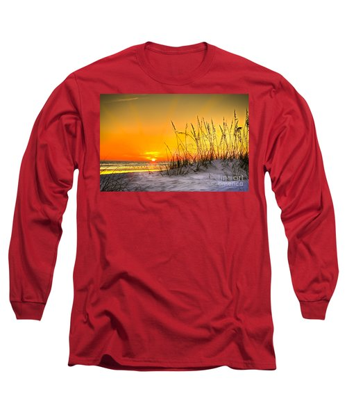 Gulf Sunset Long Sleeve T-Shirt by Marvin Spates