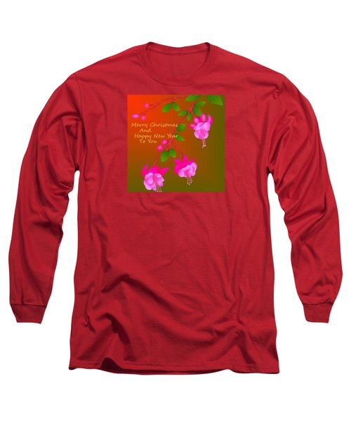 Long Sleeve T-Shirt featuring the digital art Happy Holidays by Latha Gokuldas Panicker
