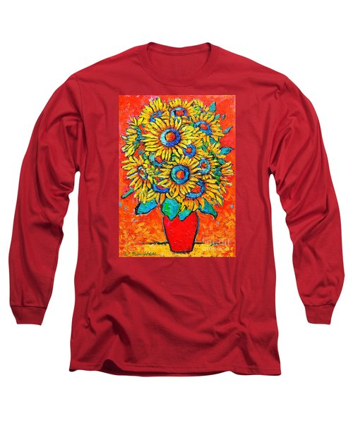 Happy Sunflowers Long Sleeve T-Shirt