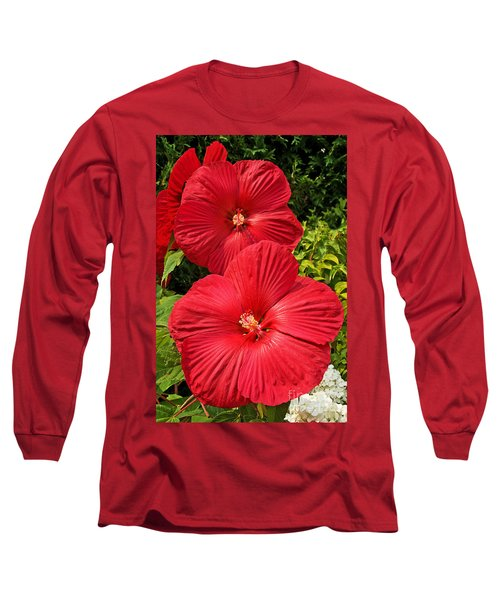 Long Sleeve T-Shirt featuring the photograph Hardy Hibiscus by Sue Smith