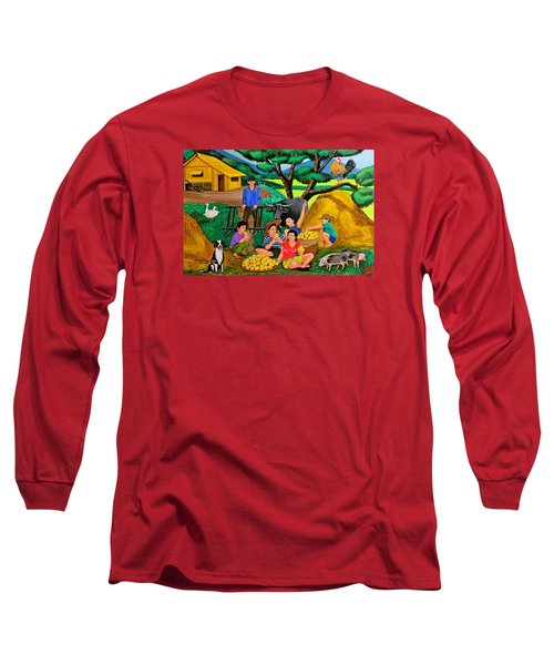 Harvest Time Long Sleeve T-Shirt by Cyril Maza