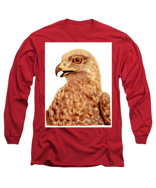 Long Sleeve T-Shirt featuring the digital art Hawk by Terry Frederick